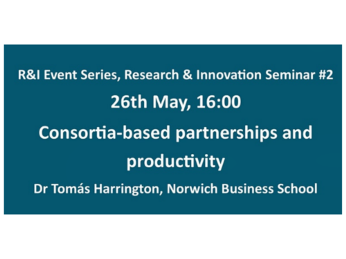 Consortia Based Partnerships and Productivity