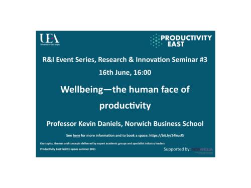 Productivity East, University of East Anglia